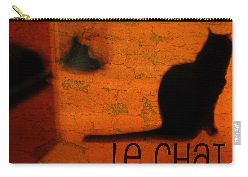 Animal Carry-all Pouch featuring the photograph Le Chat by Diana Angstadt