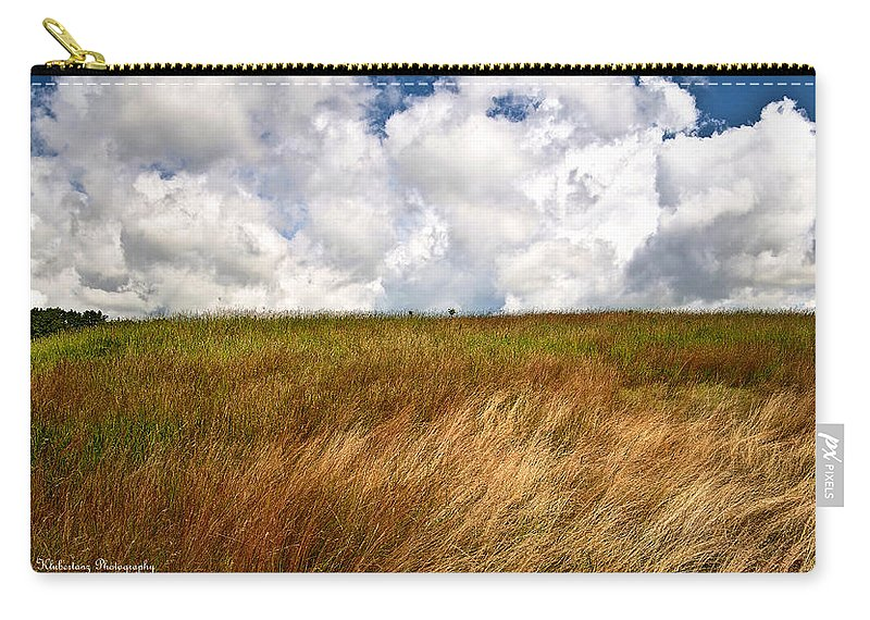 Rural Carry-all Pouch featuring the photograph Leaden Clouds Over Field by Deborah Klubertanz