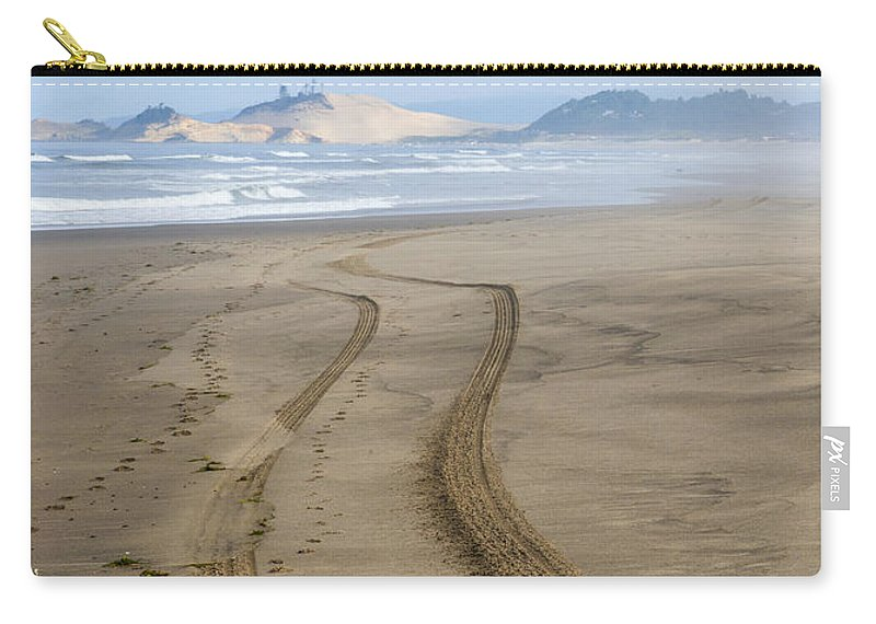 Tracks Carry-all Pouch featuring the photograph Leading To The Cape by Mike Dawson