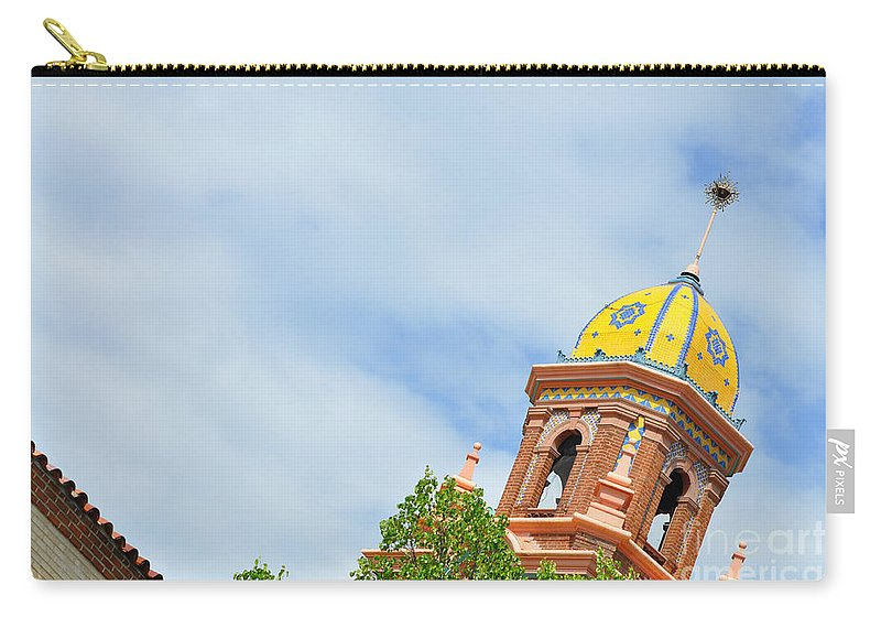 Leaning - Architectural Detail Carry-all Pouch featuring the photograph Leaning - Architectural Detail by Liane Wright