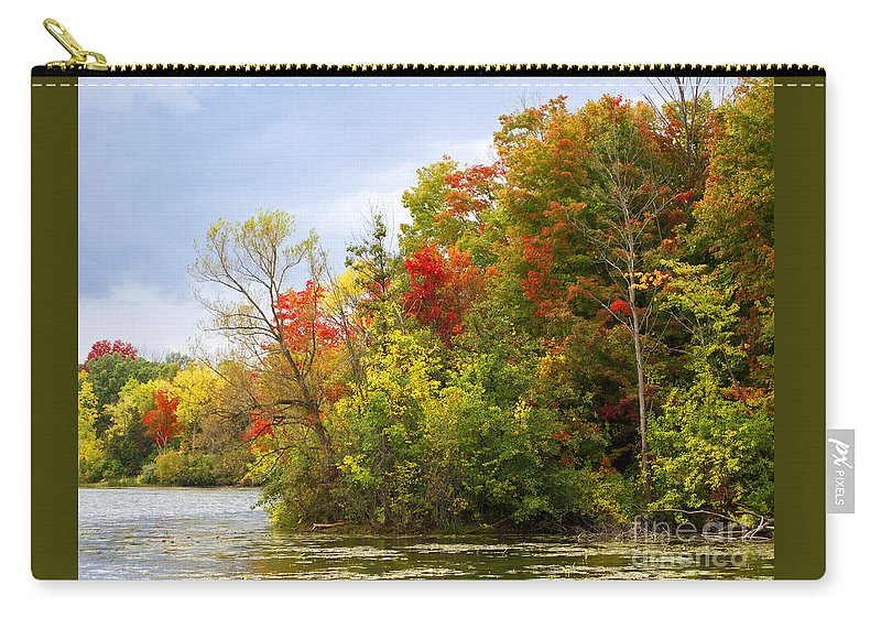 Autumn Carry-all Pouch featuring the photograph Leaning Into Autumn by Ann Horn