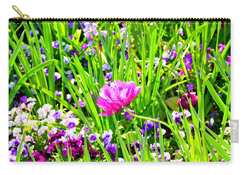 Flower Carry-all Pouch featuring the photograph Leaning Into The Sun by Tina Meador