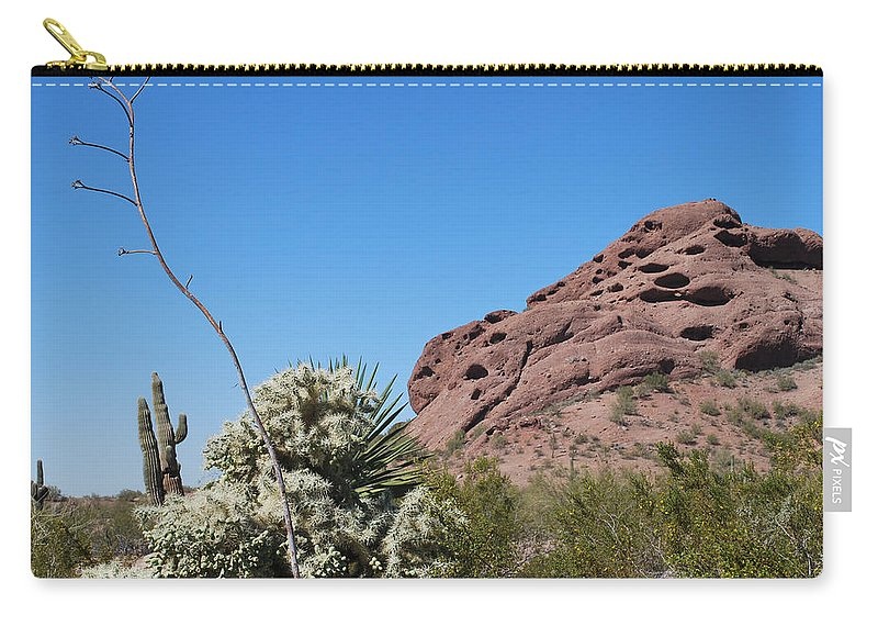 Desert Carry-all Pouch featuring the photograph Leaning Towards The Light by Heather Kirk