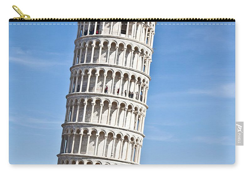 Leaning Tower Of Pisa Carry-all Pouch featuring the photograph Leaning Tower Of Pisa by Liz Leyden
