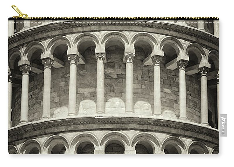 Architectural Column Carry-all Pouch featuring the photograph Leaning Tower Of Pisa, Tuscany Italy by Romaoslo