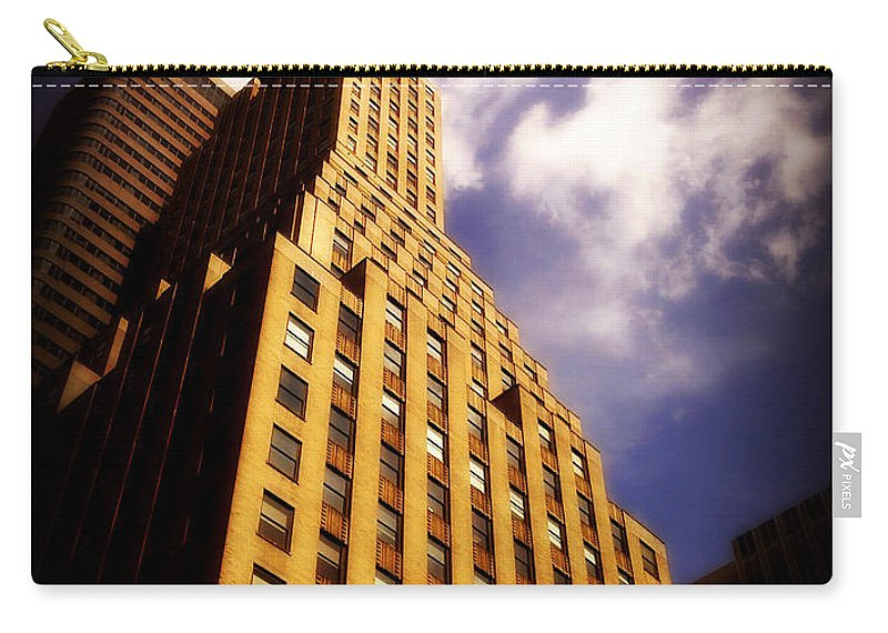 Architecture Carry-all Pouch featuring the photograph Leaps Tall Buildings With A Single Bound - Skyscraper by Miriam Danar