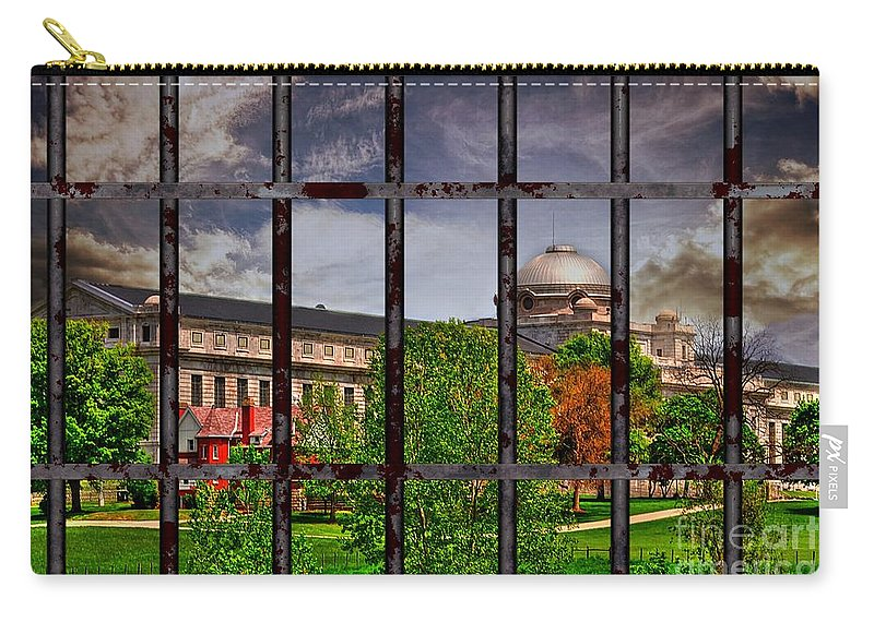 Liane Wright Carry-all Pouch featuring the photograph Leavenworth Federal Prison by Liane Wright