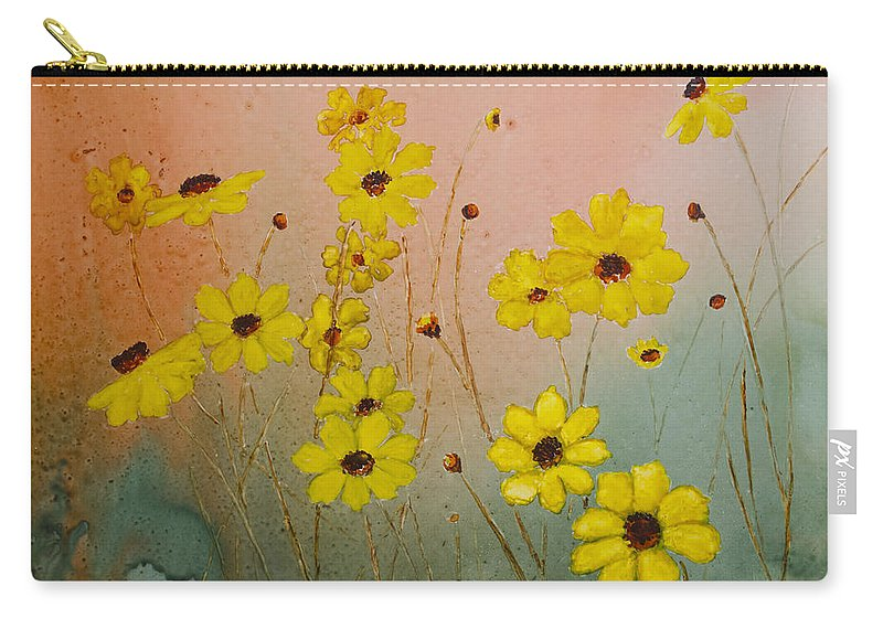 Leavenworth's Tickweed Carry-all Pouch featuring the painting Leavenworth's Tickweed by Patricia Beebe