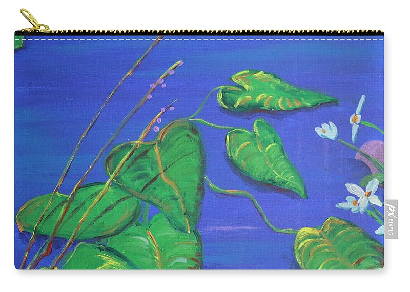 Landscape Carry-all Pouch featuring the painting Leaves In The Wind by Stefan Duncan