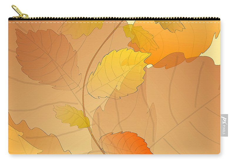 Leaf Carry-all Pouch featuring the digital art Leaves by Mary Bedy