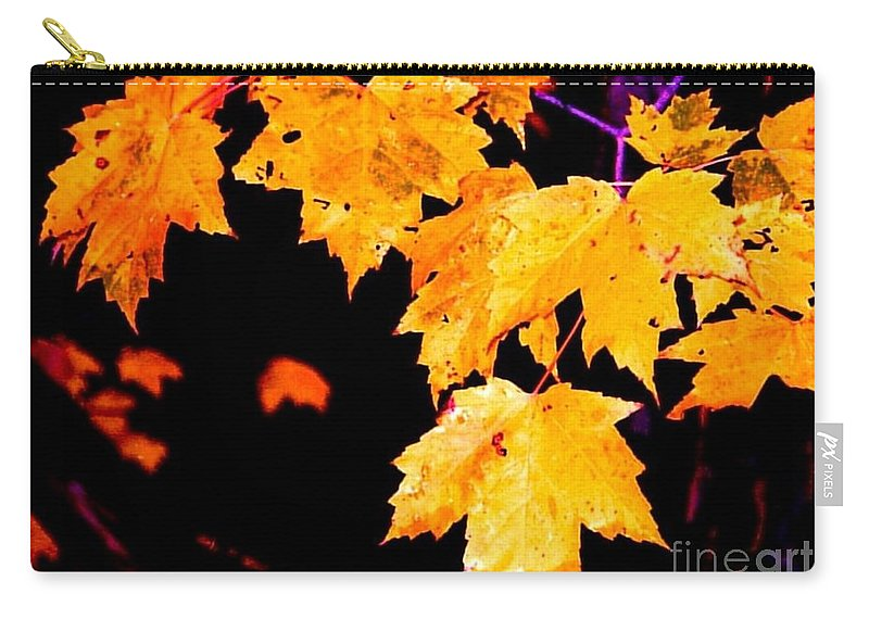 Tree Carry-all Pouch featuring the digital art Leaves Of Maple by Tim Richards