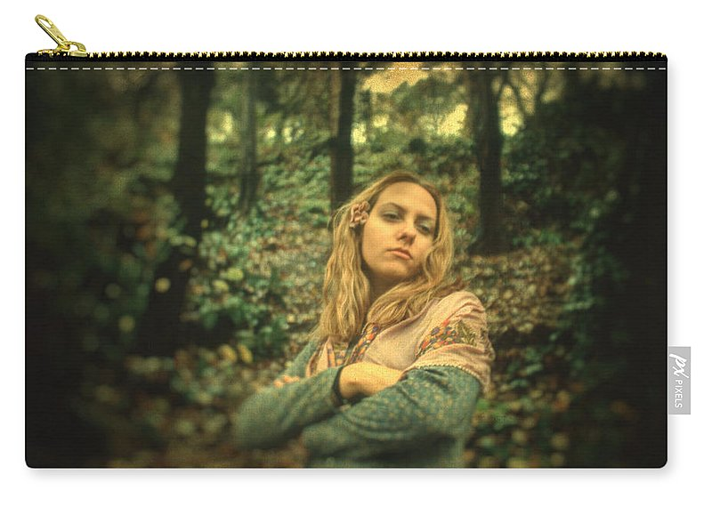 Portrait Carry-all Pouch featuring the photograph Leaving Eden by Zapista
