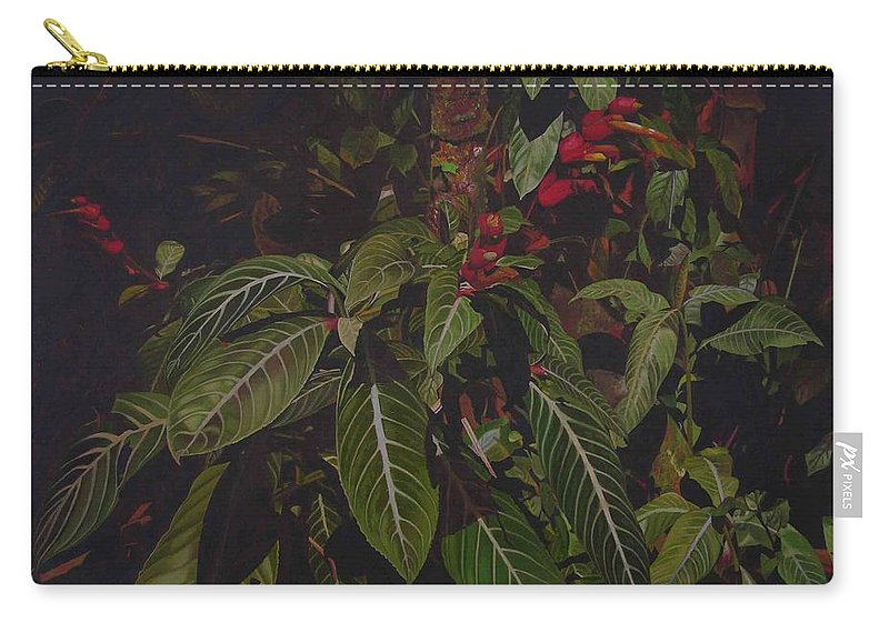 Leaves Carry-all Pouch featuring the painting Leaving Monroe by Thu Nguyen