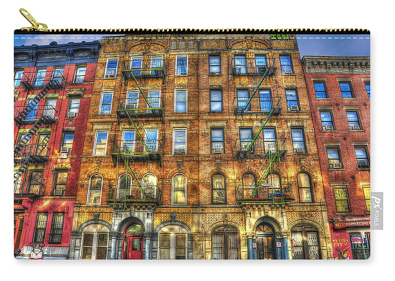 Led Zeppelin Carry-all Pouch featuring the photograph Led Zeppelin Physical Graffiti Building In Color by Randy Aveille