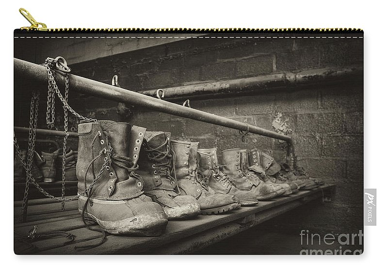 St. Nicholas Coal Breaker Carry-all Pouch featuring the photograph Left Behind by Rick Kuperberg Sr