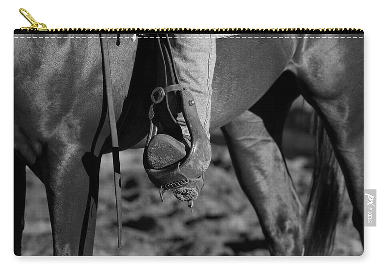 Horse Carry-all Pouch featuring the photograph Legs Black And White by Michelle Wrighton