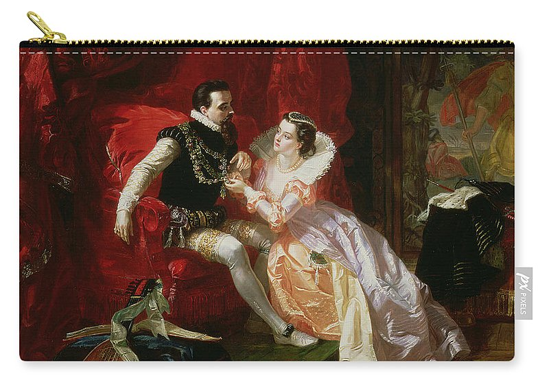 Wife Carry-all Pouch featuring the painting Leicester And Amy Robsart At Cumnor by Edward Matthew Ward