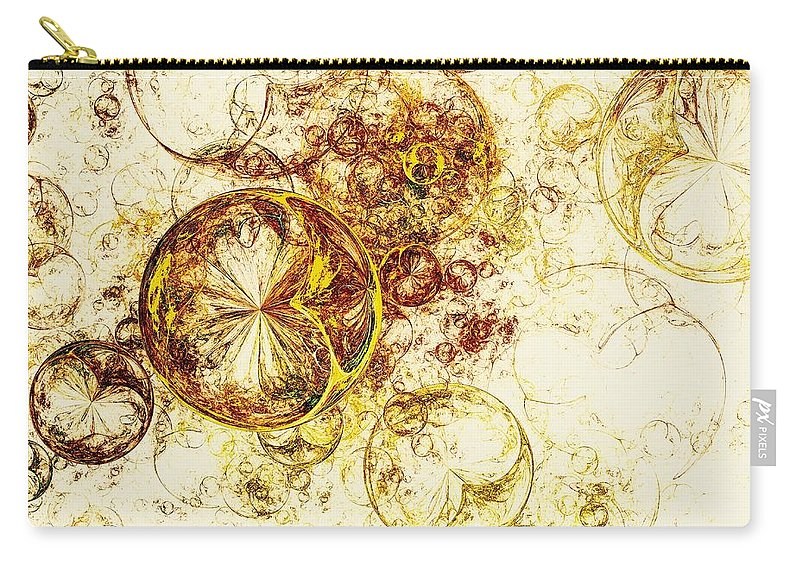 Malakhova Carry-all Pouch featuring the digital art Lemon Bubbles by Anastasiya Malakhova