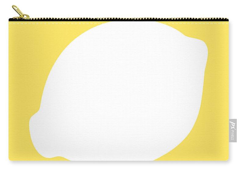 Lemon Carry-all Pouch featuring the digital art Lemon by Jackie Farnsworth