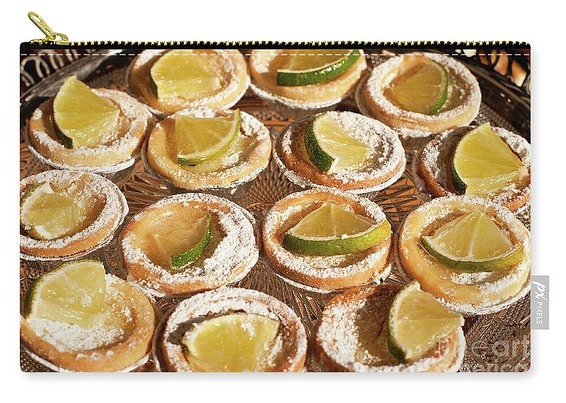 Baked Carry-all Pouch featuring the photograph Lemon Tarts by Rick Piper Photography