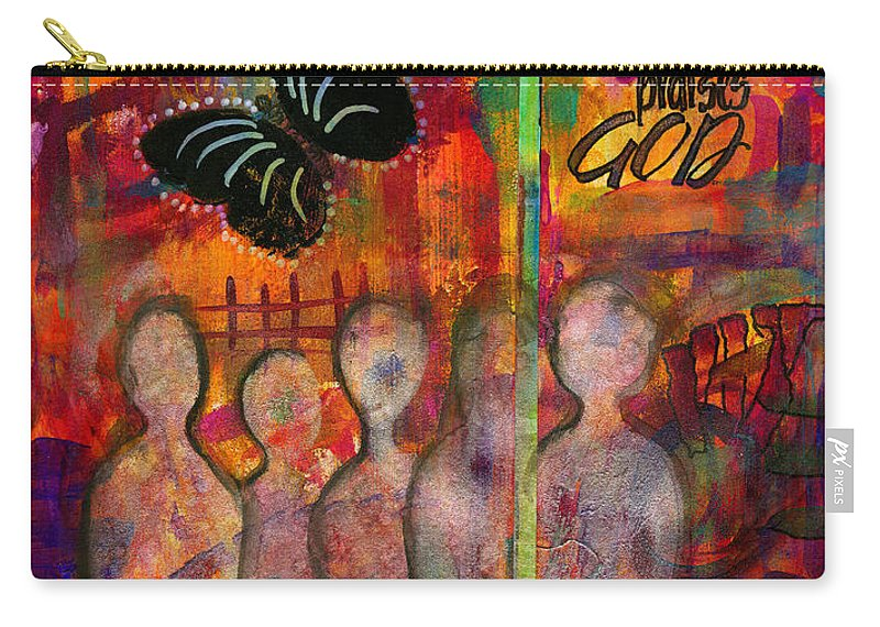 Women Carry-all Pouch featuring the mixed media Lemonade Punch by Angela L Walker