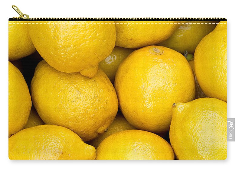 Lemons Carry-all Pouch featuring the photograph Lemons 02 by Rick Piper Photography