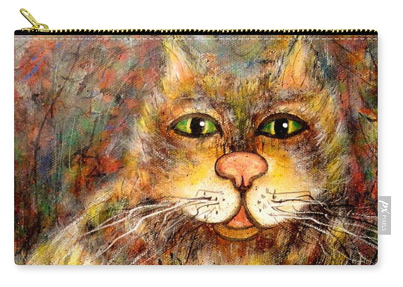 Leo Carry-all Pouch featuring the painting LEO by Natalie Holland