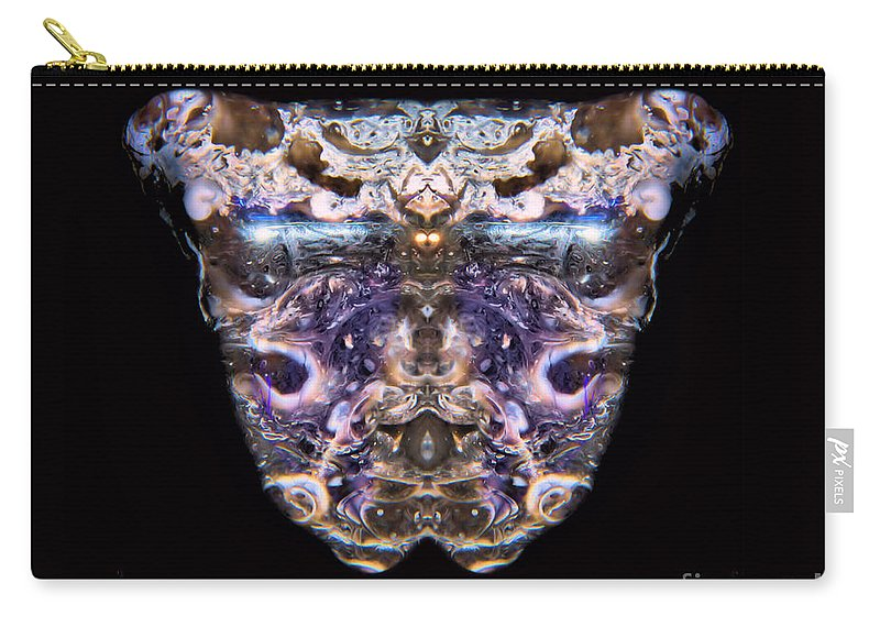 Leopard Heart Bowl Carry-all Pouch featuring the photograph Leopard Heart Bowl by James Christiansen