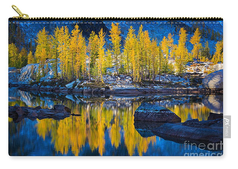 Alpine Lakes Carry-all Pouch featuring the photograph Leprechaun Tamaracks by Inge Johnsson