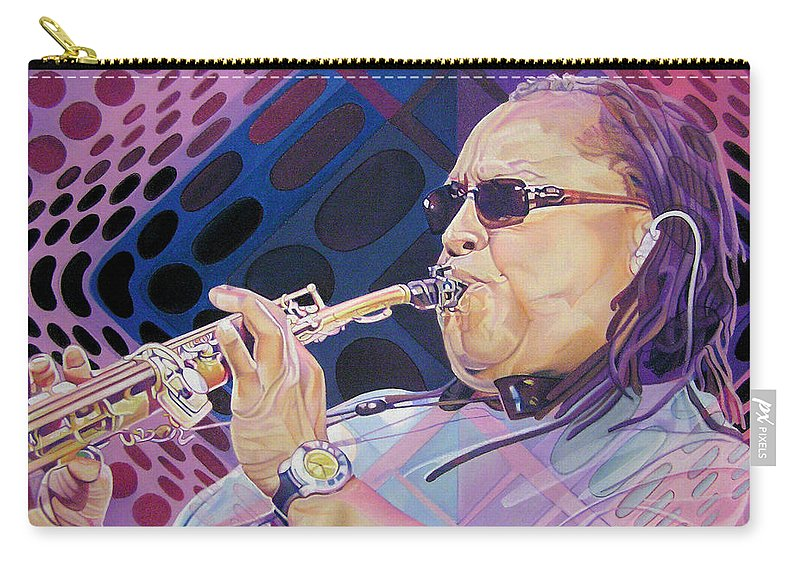 Leroi Moore Carry-all Pouch featuring the drawing Leroi Moore by Joshua Morton