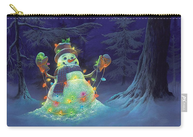 Michael Humphries Carry-all Pouch featuring the painting Let it Glow by Michael Humphries