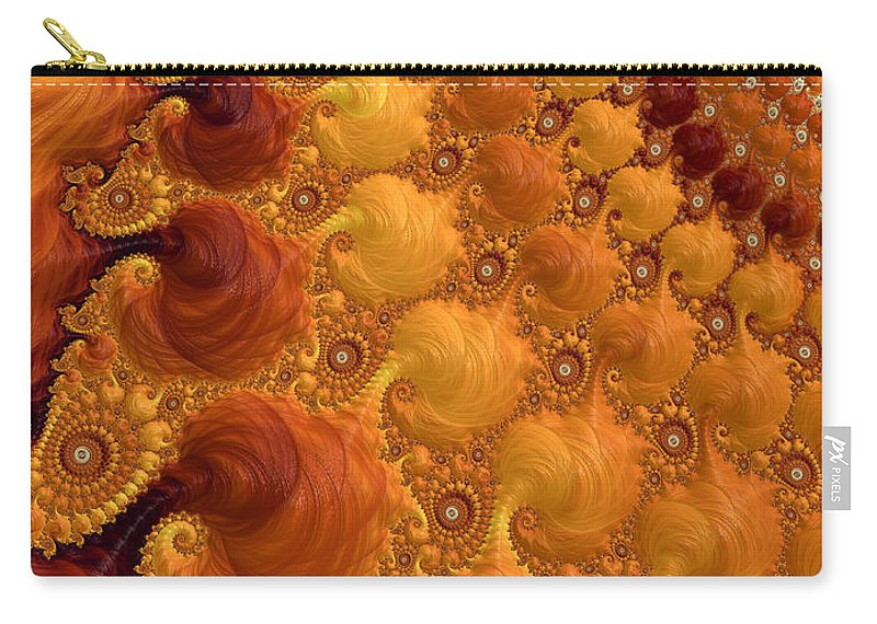 Yellow Carry-all Pouch featuring the digital art Let The Sun Shine by Heidi Smith