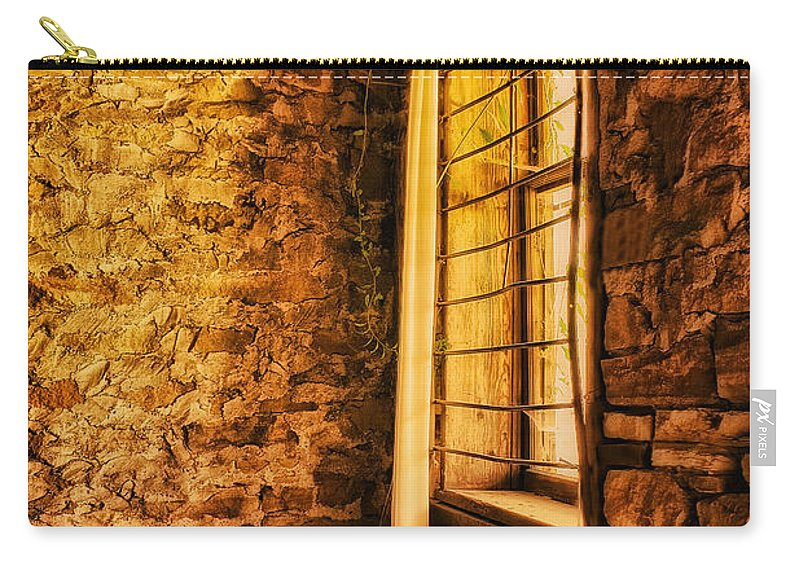 Window Carry-all Pouch featuring the photograph Let The Sunshine In by Priscilla Burgers
