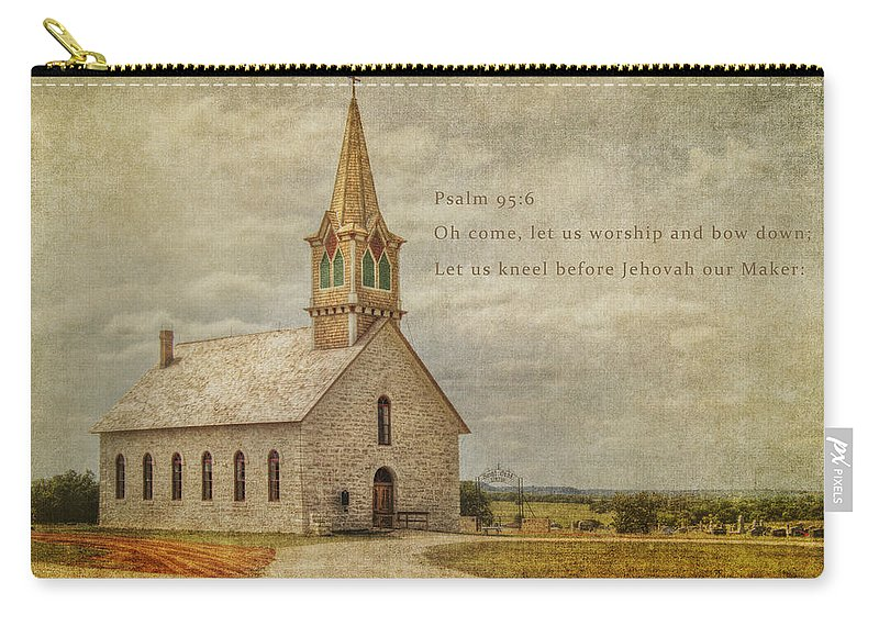 Bible Carry-all Pouch featuring the photograph Let Us Worship by David and Carol Kelly