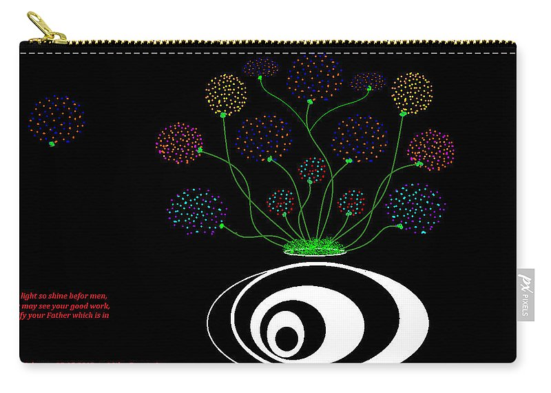 Graphic Art Carry-all Pouch featuring the painting Let Your Light Shine by Cynthia Johnson