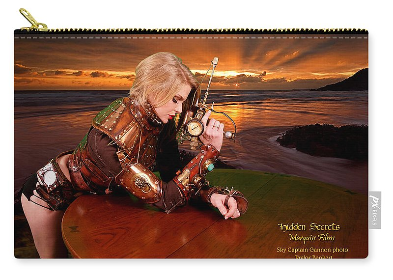 Science Fiction Carry-all Pouch featuring the digital art Lethal Lisa by Robert Marquiss