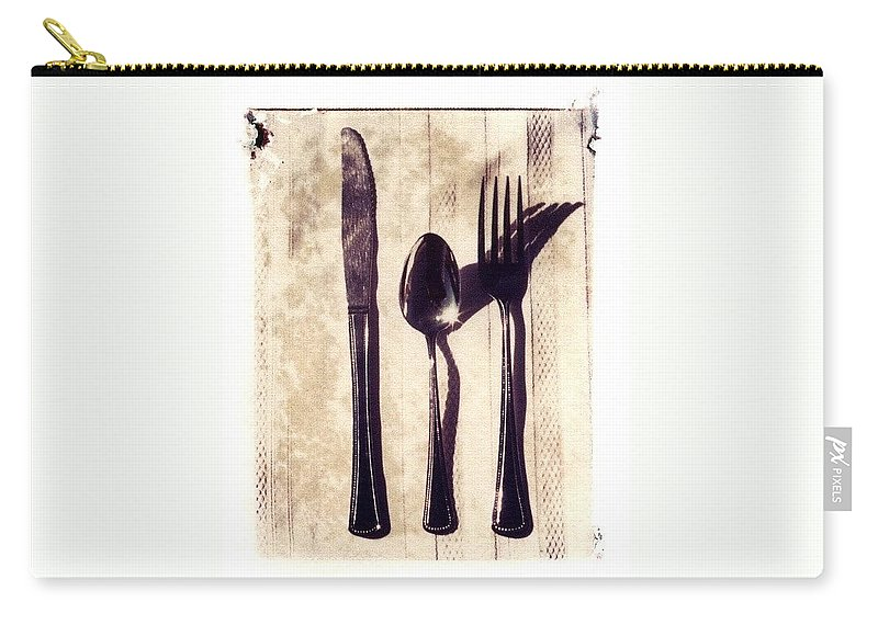 Forks Carry-all Pouch featuring the photograph Lets Eat by Jane Linders