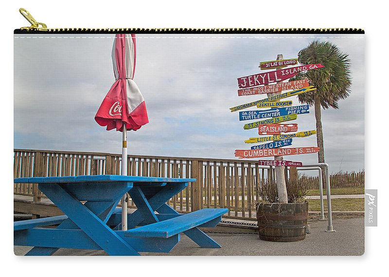 Jekyll Carry-all Pouch featuring the photograph Let's Have A Picnic Jekyll Island by Betsy Knapp