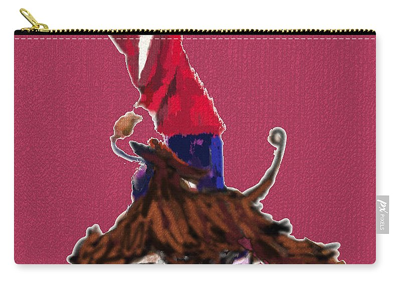 Dog Show Scene Carry-all Pouch featuring the painting Lets Tango In Red by Terry Chacon
