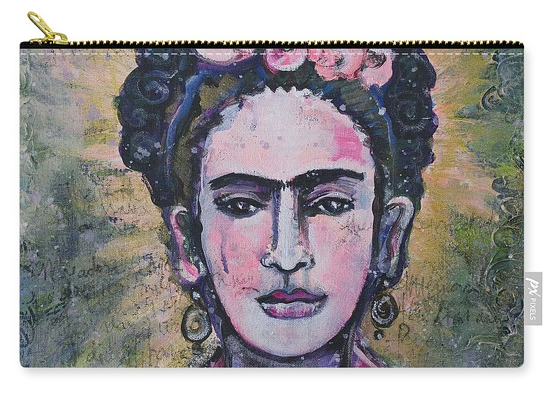 Portrait Carry-all Pouch featuring the painting Letters To Nickolas by Laurie Maves ART