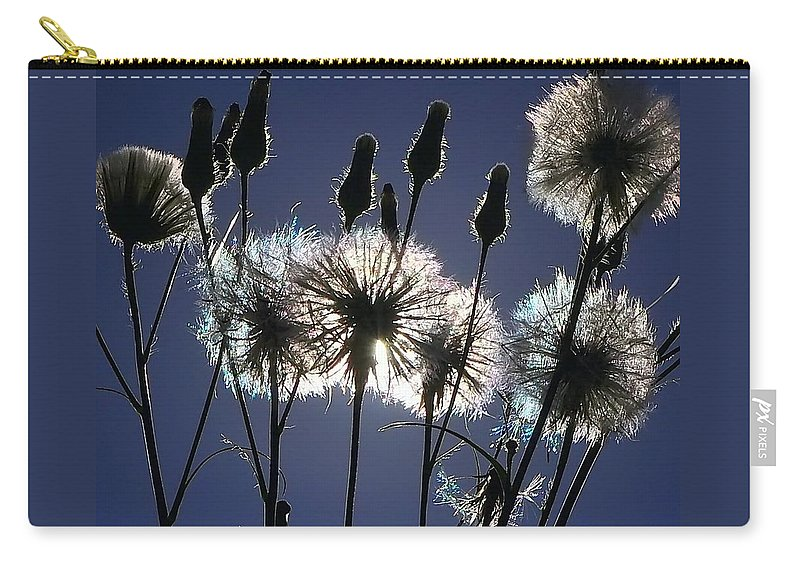 Dandelion Carry-all Pouch featuring the photograph Letting Go by Charlotte Schafer