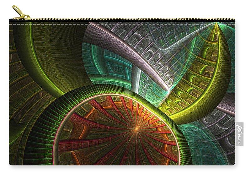 Digital Carry-all Pouch featuring the digital art Levels 113 by Deborah Benoit