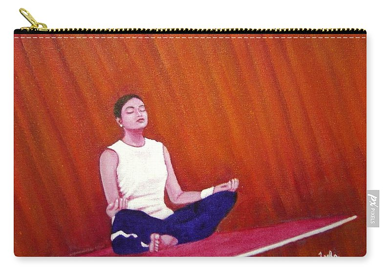 Levitation Carry-all Pouch featuring the painting Levitation by Usha Shantharam