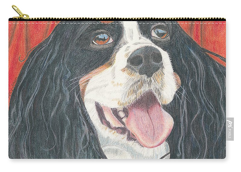 Dog Carry-all Pouch featuring the drawing Lexie by Arlene Crafton