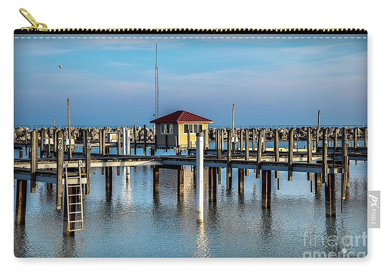 Lexington Carry-all Pouch featuring the photograph Lexington Harbor With No Boats by Ronald Grogan