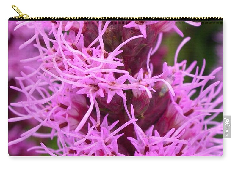 Liatris Spicata Carry-all Pouch featuring the photograph Liatris Spicata by Cynthia Wallentine
