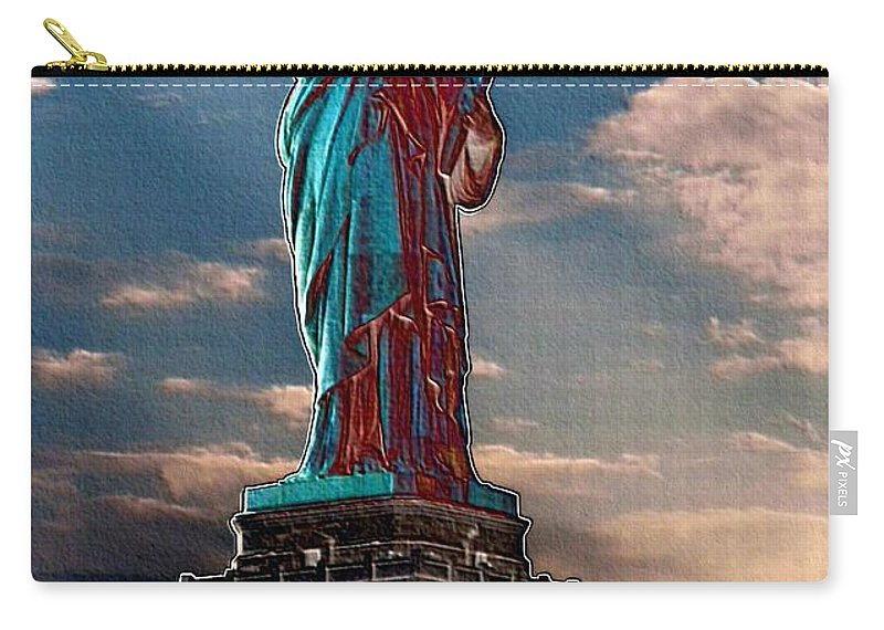 Statue Of Liberty Carry-all Pouch featuring the photograph Liberty For All by Luther Fine Art
