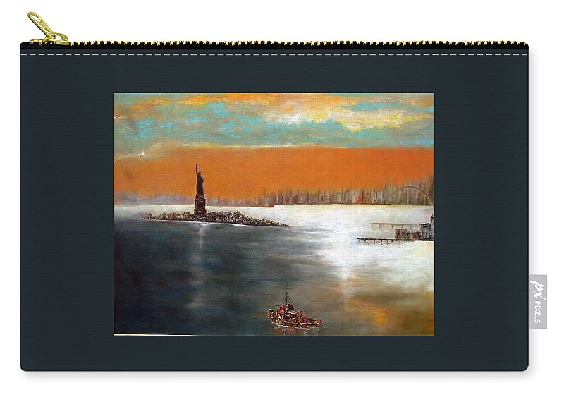 Nyc Carry-all Pouch featuring the painting Liberty by Lord Frederick Lyle Morris - Disabled Veteran
