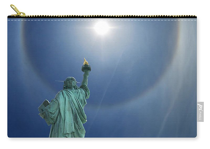 Illusion Carry-all Pouch featuring the photograph Liberty's Halo by Edwin Verin
