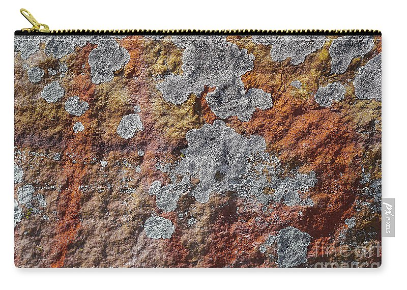 Gibraltar Rocks Carry-all Pouch featuring the photograph Lichen On Sandstone by Steven Ralser